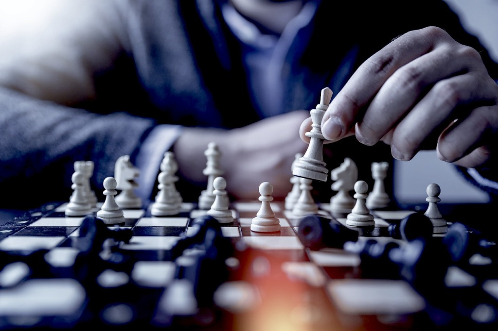 Winning at chess requires strategy, focus and sometimes taking some risks.